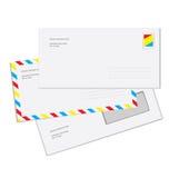Mail Envelopes. Three Mail Envelopes Isolated Over White Background vector illustration