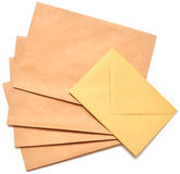 Mail envelopes. A letter envelope for mail postage shipping Royalty Free Stock Photo