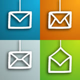 Mail envelopes set Royalty Free Stock Photography