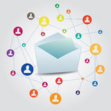 Mail. Exchange with connected people online Stock Images