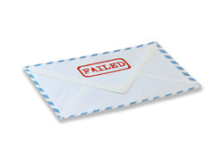 Mail failed Royalty Free Stock Images