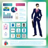 Mail fashion infographics set. Royalty Free Stock Photography