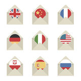 Mail flag icons Stock Photography