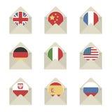 Mail flag icons stock illustration
