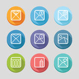 Mail flat icons Royalty Free Stock Image