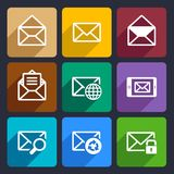 Mail Flat Icons Set 47 Stock Image