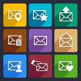 Mail Flat Icons Set 48 Stock Images
