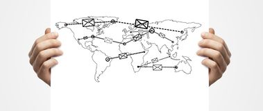 Mail forwarder in map Royalty Free Stock Photos