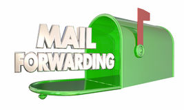 Mail Forwarding Moving Relocation Mailbox Words stock illustration