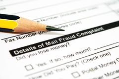 Mail fraud Royalty Free Stock Image