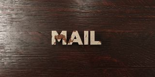 Mail - grungy wooden headline on Maple  - 3D rendered royalty free stock image Royalty Free Stock Image