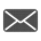 Mail Halftone Dotted Icon stock illustration