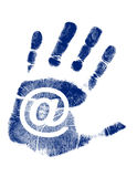 Mail Hand print / Vector Stock Photo