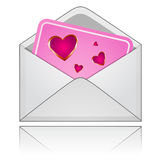 Mail with Hearts Royalty Free Stock Photos