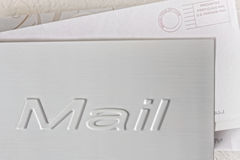 Mail holder. With some letters Royalty Free Stock Photography