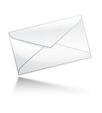 Mail icon. Closed envelope. EPS10 Royalty Free Stock Photography