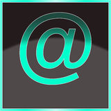 Mail At icon,. The mail at icon, backround with black-gray color Royalty Free Stock Photography