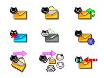 Mail Icon Cat Style 001 Royalty Free Stock Photo