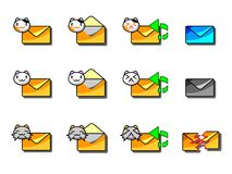 Mail Icon Cat Style 002 Stock Photography