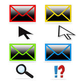 Mail icon collection royalty free stock photos
