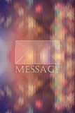 Mail icon on colored abstract triangle Background Royalty Free Stock Photography