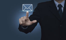 Mail icon, Contact us concept Royalty Free Stock Image