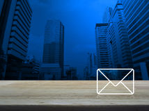 Mail icon, Contact us concept Stock Images