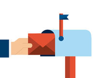 Mail icon Royalty Free Stock Photo