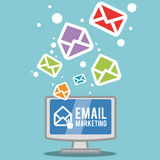 Mail icon design vector illustration eps10 graphic Royalty Free Stock Photography