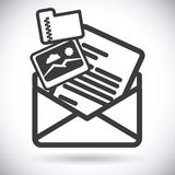 Mail icon design vector illustration eps10 graphic Royalty Free Stock Photos