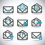 Mail icon design vector illustration eps10 graphic Stock Photography