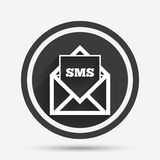Mail icon. Envelope symbol. Message sign. Royalty Free Stock Image
