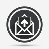 Mail icon. Envelope symbol. Outbox message sign. Stock Photography