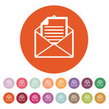 The mail icon. Open Envelope symbol Stock Images
