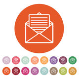The mail icon. Open Envelope symbol Stock Image
