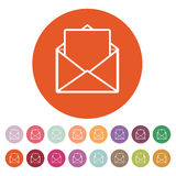 The mail icon. Open Envelope symbol Royalty Free Stock Images
