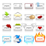 Mail icon set Stock Image