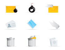 Mail Icon Set 2. Vector Mail Icon Set 2 Royalty Free Stock Images