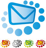 Mail icon set Stock Images