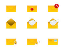 Mail Icon Set 3. Vector Mail Icon Set 3 Royalty Free Stock Photos