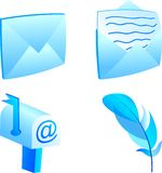 Mail icon set. Set of 3d mail icons. Vector illustration Stock Photography