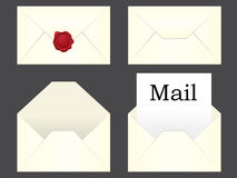 Mail icon set Royalty Free Stock Photos
