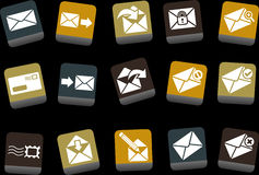 Mail Icon Set Stock Photos