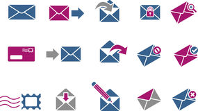 Mail Icon Set Royalty Free Stock Images