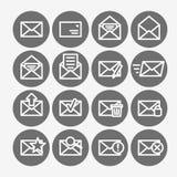 Mail icon set Royalty Free Stock Photos