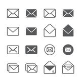 Mail icon set. /16 vector for design vector illustration