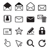 Mail icon set. Vector Illustration Graphic Design stock illustration
