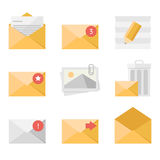 Mail icon set Royalty Free Stock Image