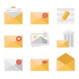Mail icon set Royalty Free Stock Image