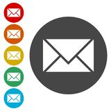 Mail Icon. Simple vector icon royalty free illustration